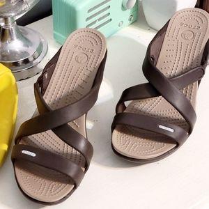 Crocs heels Size 10